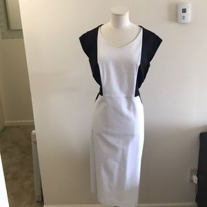 Eloquii black and white color block dress size 18